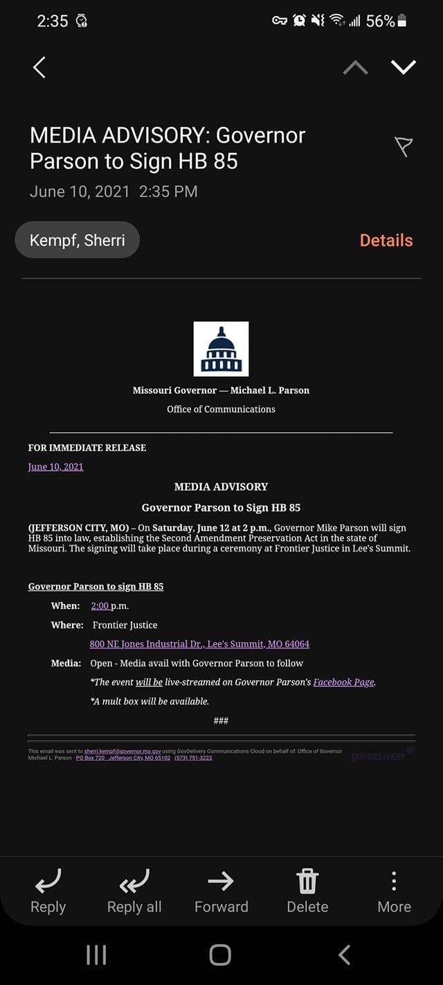 Media notice