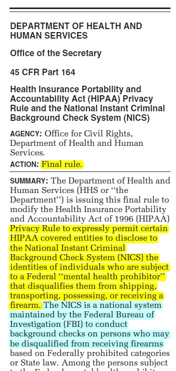 HIPAA rule change